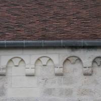 Corniche beauvaisine sur le mur est du bras sud du transept (2016)