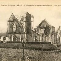 L'église en ruines en août 1918