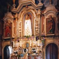 L'autel retable de la chapelle de la Vierge et la Vierge miraculeuse (2003)