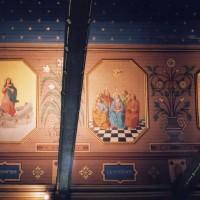 Décor peint de la charpente de la nef (2003)
