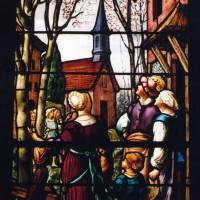 Vitrail de la chapelle de la Vierge par Roussel (2003)