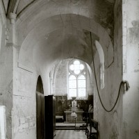 La voûte en berceau de la base du clocher vue vers l'est (1979)
