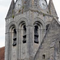 L'étage du beffroi du clocher vu du sud-est (2019)