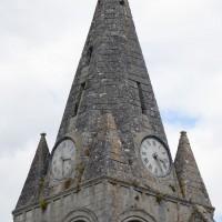 La flèche du clocher vue du sud-est (2019)