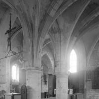 La base du clocher et le choeur vus vers le nord-est (1996)