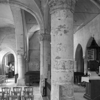 Vue partielle du choeur et de la nef vers l'ouest (2000)