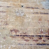 Reste de fresque au mur nord de la seconde travée du choeur (1995)