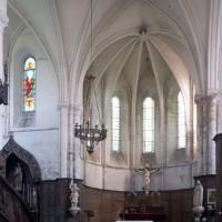 Le choeur et le bras nord du transept vus vers le nord-est (1996)