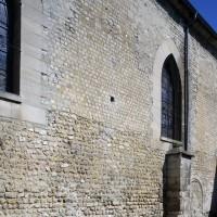 Vue partielle du mur sud de la nef (2015)