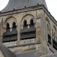 L'étage du beffroi du clocher vu depuis le nord-ouest (2017)