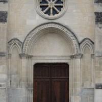 La façade est, aménagée comme entrée de l'église dans l'ancien choeur (2017)