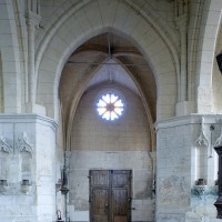 La base du clocher et l'ancien choeur vus vers l'est (2008)