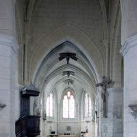 La base du clocher et le nouveau choeur vus vers l'ouest (2008)