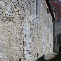 Le mur gouttereau sud de la nef vu du sud-ouest (2008)