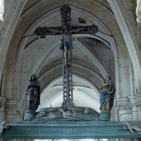 La voûte de la base du clocher et la poutre de Gloire (2008)