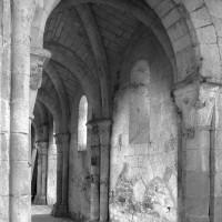Le bas-côté nord de la nef vu vers le nord-ouest (1995)