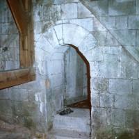 Passage sur le côté est du clocher vers les combles du choeur (1971)