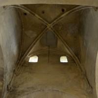 Les parties hautes de la croisée du transept, formant lanterne, vues vers l'est (2015)