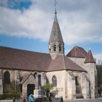Vue partielle de l'église depuis le sud-ouest