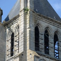 Le second étage du clocher vu du sud-ouest (2017)