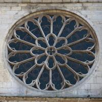 La rose de la façade nord du transept (2017)