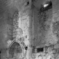 L'élévation partielle du mur sud du choeur vers le sud-est (2000)
