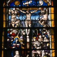 Vitrail de la Crucifixion et de la Résurrection, daté 1545 (1997)