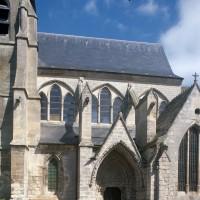 Le clocher et la nef vus du sud (1997)