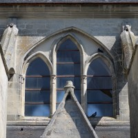 Fenêtre des parties hautes de la nef vue du sud (2017)