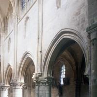 Le mur nord de la nef vu vers le nord-ouest (1997)