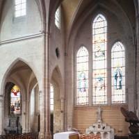 Le bras nord du transept vu vers le nord-ouest