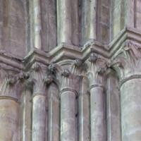 Les chapiteaux de l'angle nord-est de la croisée du transept (2019)