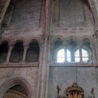 Le mur gouttereau nord du bras nord du transept (2019)