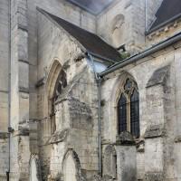 Faux croisillon à l'angle nord de la nef et du choeur (2016)
