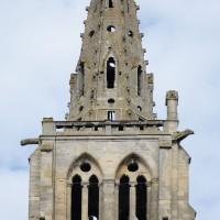 L'étage du beffroi et la flèche de la tour nord vus de l'est (2016)