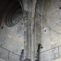 La retombée des voûtes au niveau du second étage du bloc de façade vues vers le sud-ouest (2016)