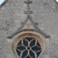 La rose et le décor du pignon de la façade (2016)