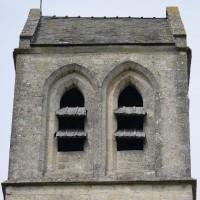 Le dernier étage du clocher vu du sud (2016)