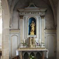 L'autel-retable du bas-côté sud (2016)