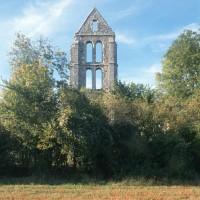 Le clocher en ruines vu du sud (1994)