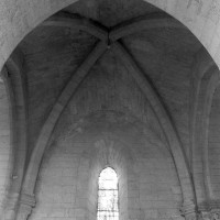 La voûte de la première travée de l'ancien choeur du 12ème siècle vue vers le nord (1995)
