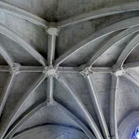 La voûte de la chapelle seigneuriale vue vers le nord (2008)