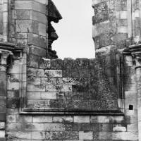 Détail du mur gouttereau du bras nord du transept (1995)