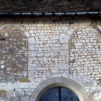 Fenêtres bouchées du mur gouttereau sud de la nef (1973)