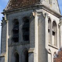 L'étage du beffroi du clocher vu depuis le sud-est (2016)