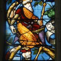 Détail du vitrail de l'Arbre de Jessé (1995)