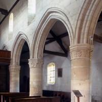 Le mur nord de la nef vu vers le nord-ouest (1994)