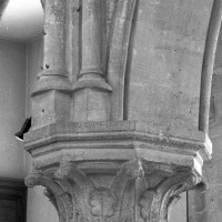 Première campagne : chapiteau d'une arcade des deux dernières travées (2000)