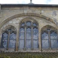 Fenêtre haute de la première travée de la nef, au nord (2017)