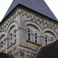 L'étage du beffroi du clocher vu du nord-ouest (2017)